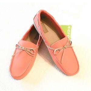 NWT Crocs Colorlite Loafer Orange Tan